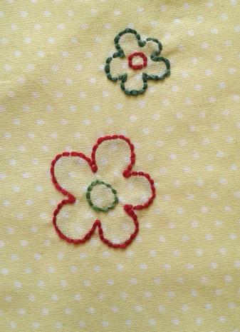 robe fillette jaune détail fleurs